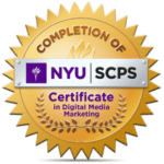 Certificate in Digital Media Marketing from NYU's School of Continuing and Professional Studies